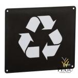 Настенный знак для сортировки мусора RECYCLABLE магний серый