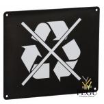 Настенный знак для сортировки мусора NON RECYCLABLE магний серый