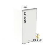 Мусорный бак для сортировки отходов CUBATRI 40L белый/белый RAL9016 стаканчики