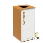 Мусорный бак для сортировки отходов CUBATRI 75L белый/коричневый RAL8001 картридж