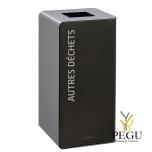 Мусорный бак для сортировки отходов CUBATRI 75L магний/серый RAL9022 прочие отходы