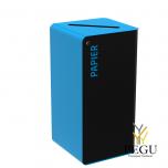 Sorteerimise prügikast lukuga CUBATRI 75L  mangaanhall/sinine RAL5015 Paber
