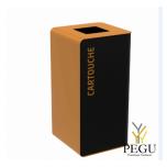 Мусорный бак для сортировки отходов CUBATRI 75L  магний/коричневый RAL8001 картридж