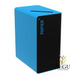Мусорница для сортировки с замком CUBATRI 90L магний/синий RAL5015 бумага