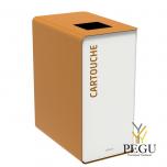 Мусорный бак для сортировки отходов CUBATRI 90L белый/коричневый RAL8001 картридж