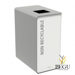 Мусорный бак для сортировки отходов CUBATRI 90L белый/серый RAL9022 прочие отходы