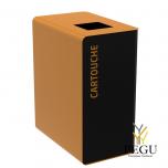 Мусорный бак для сортировки отходов CUBATRI 90L магний/коричневый RAL8001 картридж