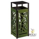 Prügikast välitingimusele Rossignol CYBEL polycarbonate+metall 110L  Matt antratsiit+olive roheline RAL6003