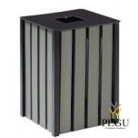 Уличная урна Rossignol  EDEN ETIK металлическая 50L серый gray manganese