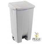 Мусорный контейнер с педалью и крышкой MOBILY 120L пластик белый/белый