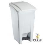 Мусорный контейнер с педалью и крышкой MOBILY 60L пластик белый/белый