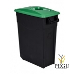 Sorteerimise prügikast 65L, roheline/must polüpropileen