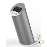 Уличные урны  PIZ Premium 85L металлик серый RAL9006