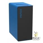 Sorteerimise prügikast CUBATRI 65L, must/sinine RAL5015 Paber