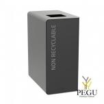 Мусорный бак для сортировки CUBATRI 65L чёрный/серый RAL9022 био отходы