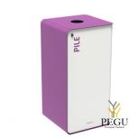 Sorteerimise prügikast lukuga CUBATRI 40L valge/violetne RAL4008 aku