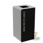 Сортировочный мусорный бак с замком CUBATRI 40L чёрный/серый RAL9022 прочие отходы