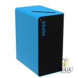 Sorteerimise prügikast lukuga CUBATRI 65L must/sinine RAL5015 paber