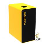 Sorteerimise prügikast lukuga CUBATRI 65L must/kollane RAL1021 plastik