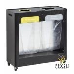 Sorteerimise prügi kogumissüsteem TRIMOUV 2 x 110L plastik/muud jäätmed