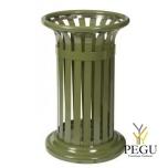 Prügikast vabalt seisev või kinnitatud TULPE 60L,  Olive roheline RAL6003