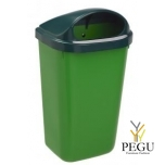 Prügikast 50L XERIOS parki, linna, õue roheline kaan/roheline kast