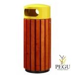 Prügikast Rossignol välitingimusele ZENO 60L pruun puu/ metall kollane RAL1021