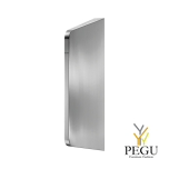Разделительная стенка для писсуара LISO,  нержавеющая сталь AISI 304