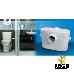 WC насос измельчитель Saniaccess 2 (можно:  WC + раковина )
