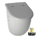 Керамический писсуар с крышкой  Casa с радаром Sanela,  с интегрированным источником питания 230V/ AC