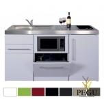 Миникухня металлическая Stengel MPGSM150, с холодильником, посудомойкой , индукционной плитой, COLOR цвет, раковина слева