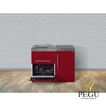 Miniköök metallist Stengel MPGS110,  külmikuga, nõudepesumasinaga, induktsioonpliidiga, COLOR, valamu vasakul