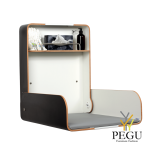 Пеленальный столик настенный KAWA maxi белый /чёрный/чёрный