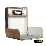 Пеленальный столик настенный KAWA maxi белый /дуб/антрацит
