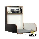 Пеленальный столик настенный KAWA maxi чёрный/чёрный/чёрный