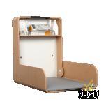 Пеленальный столик настенный KAWA maxi чёрный/бук/бук