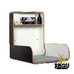 Пеленальный столик настенный KAWA maxi нержавеющая сталь /чёрный/чёрный