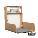 Пеленальный столик настенный KAWA maxi нержавеющая сталь /бук/бук