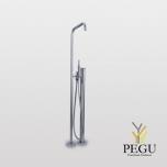 Vola свободно стоящий смеситель для ванной с душем. Высота 1080 mm. Матовый хром