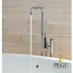Vola свободно стоящий смеситель для ванной с душем. Высота 1080 mm. Хром
