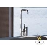 Vola свободно стоящий смеситель для ванной с душем. Высота 1080 mm. Н/Р сталь