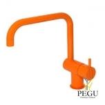 Смеситель с ручкой кухонный KV1, оранжевый
