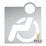 """Пиктограмма """"Для инвалидов"""", на клей, Н/Р сталь,сатин"""