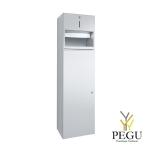 Kombinatsioon paberrätikute dosaator 250 paberrätikud, prügikast 32L R/V ters harjatud