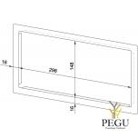 Лицевая рамка WP166/170 нержавеющая сталь сатин