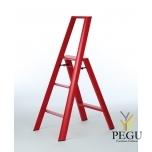 Дизайн лестница Hasegawa 3 ступени красная