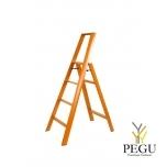 Дизайн лестница Hasegawa 4 ступени оранжевая